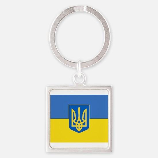 Ukrainian flag, trizub Keychains