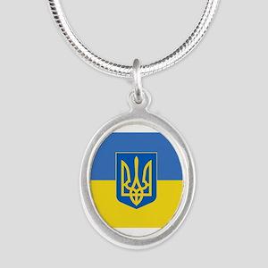 Ukrainian flag, trizub Necklaces