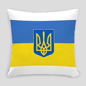 Ukrainian flag, trizub Everyday Pillow