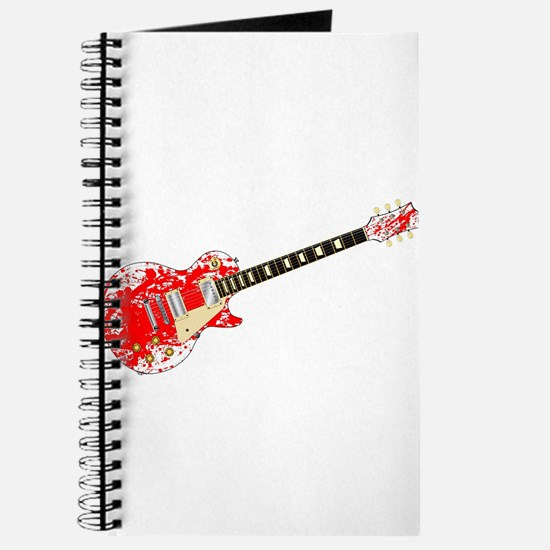 Ink Splatter Guitar Journal