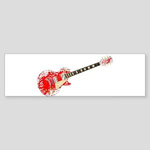Ink Splatter Guitar Bumper Sticker