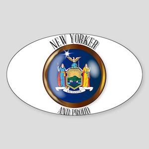 New York Proud Flag Button Sticker
