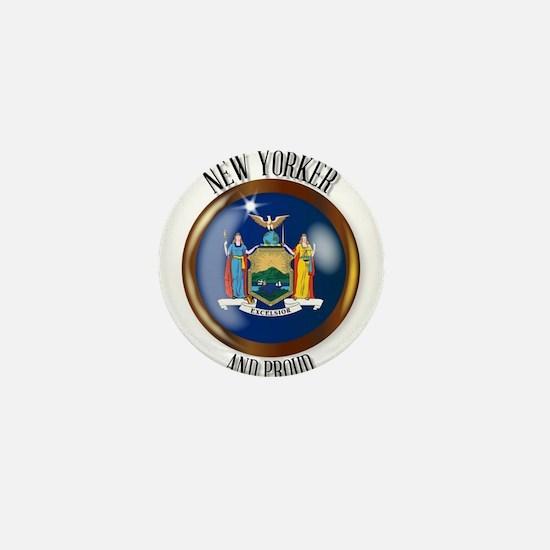 New York Proud Flag Button Mini Button