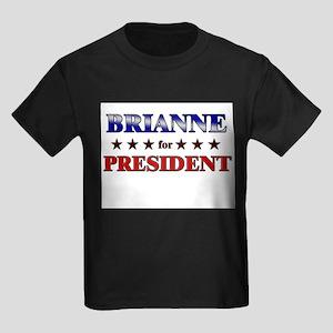 BRIANNE for president Kids Dark T-Shirt