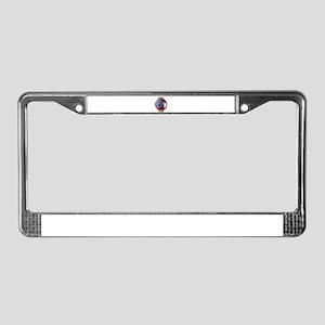 Georgia Proud Flag Button License Plate Frame