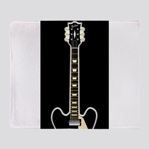 Semi Acoustic Rock Guitar Throw Blanket