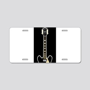 Semi Acoustic Rock Guitar Aluminum License Plate
