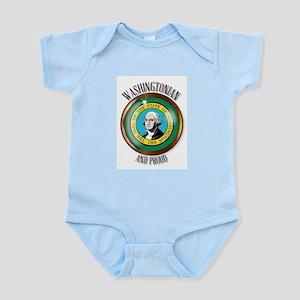 Washington Proud Flag Button Body Suit