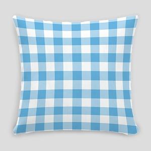 Blue Gingham Everyday Pillow