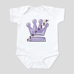 Princess with Crown (purple) Infant Bodysuit
