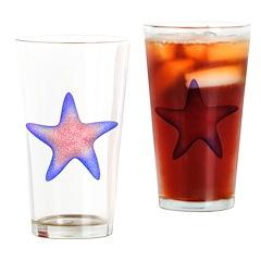 Purple & Pink Starfish Drinking Glass