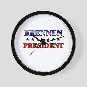 BRENNEN for president Wall Clock