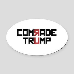 Comrade Trump Oval Car Magnet