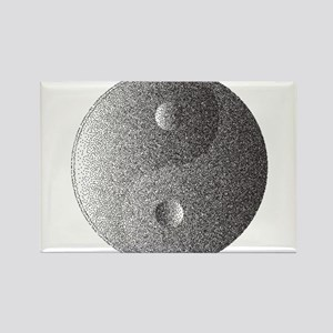 Yin and Yang In Dotted Style Magnets