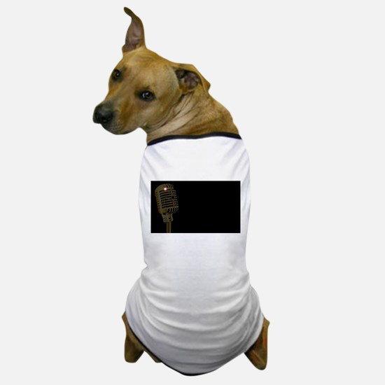 Gold Microphone Poster Dog T-Shirt