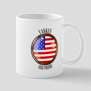 Yankee Proud Flag Button Mugs