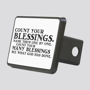 Count Your Blessings Rectangular Hitch Cover