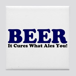 The Beer Cure Tile Coaster