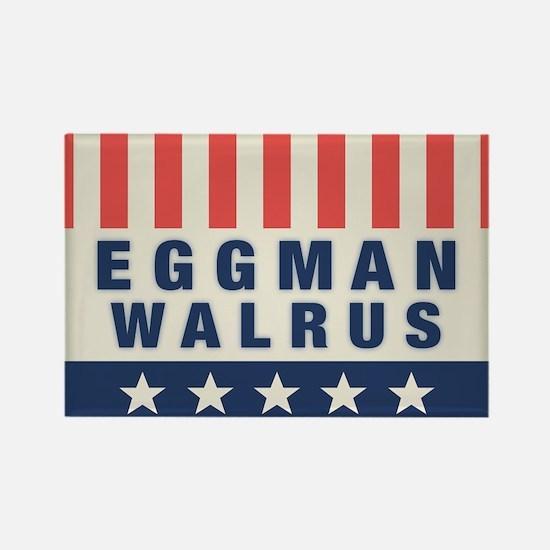 Eggman - Walrus Rectangle Magnet