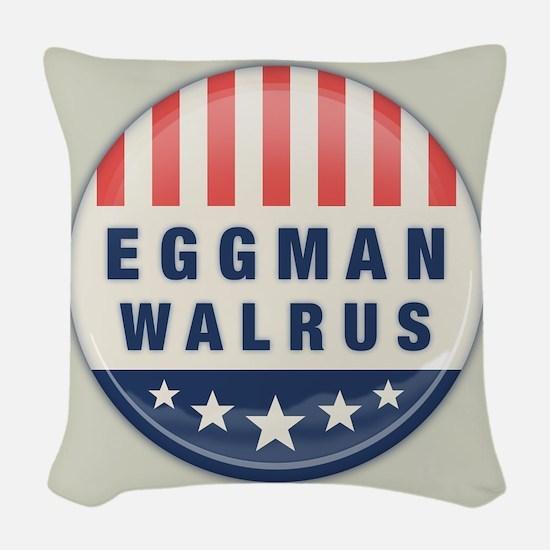 Eggman - Walrus Woven Throw Pillow