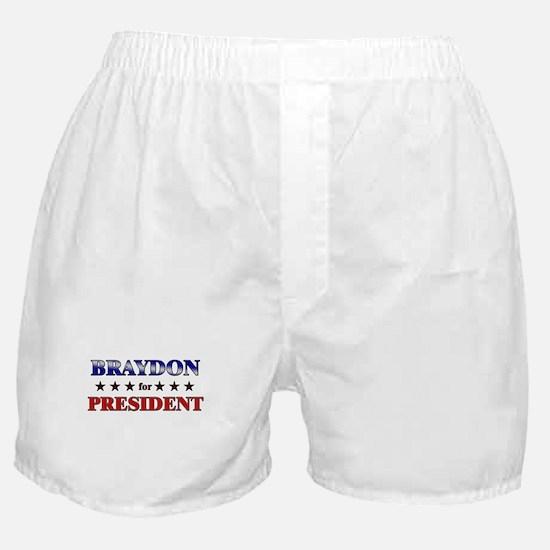 BRAYDON for president Boxer Shorts