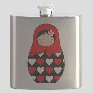 Matryoshka red heart Flask