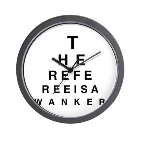 Blind REFEREE Wall Clock