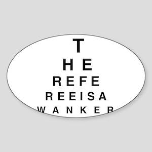 Blind REFEREE Oval Sticker