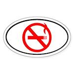 No Smoking Oval Sticker