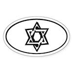 Star of David Oval Sticker