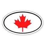 Canadian Maple Leaf Oval Sticker