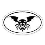 Evil Killer Bee Oval Sticker