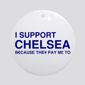 I Support Chelsea Ornament (Round)