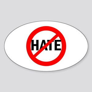 Say NO to Hate Oval Sticker