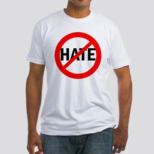 Say NO to Hate Fitted T-Shirt