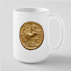 Horses, harness racing. Large Mug