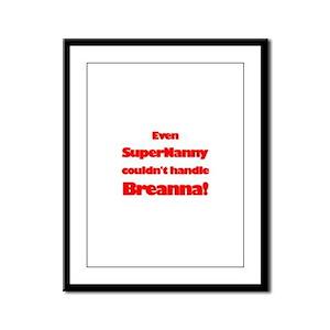 SuperNanny Couldn't Handle Br Framed Panel Print