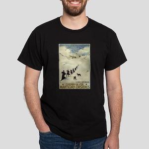 Monks Skiing Great St. Bernard Pass T-Shirt