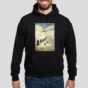 Monks Skiing Great St. Bernard Pass Hoodie
