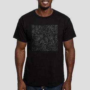 Black Flourish Men's Fitted T-Shirt (dark)
