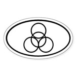 4 Circles Oval Sticker