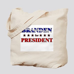 BRANDEN for president Tote Bag