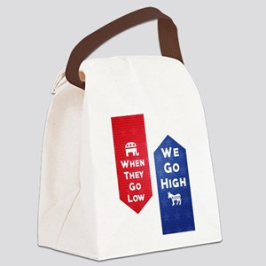 Low-High Canvas Lunch Bag