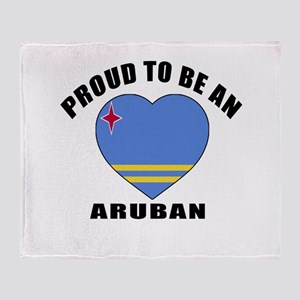 Aruban Patriotic Designs Throw Blanket