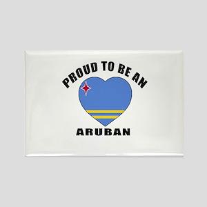 Aruban Patriotic Designs Rectangle Magnet