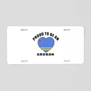 Aruban Patriotic Designs Aluminum License Plate