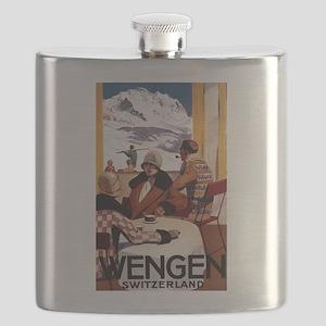 Wengen, Switzerland - Wengen Downhill Club Flask