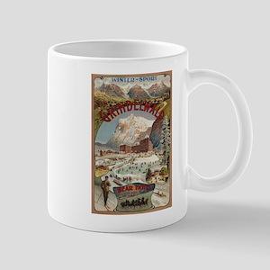 Grindelwald & Bear Hotel - Vintage Travel Poster M