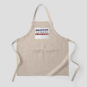 BRAEDEN for president BBQ Apron