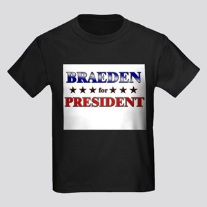 BRAEDEN for president Kids Dark T-Shirt